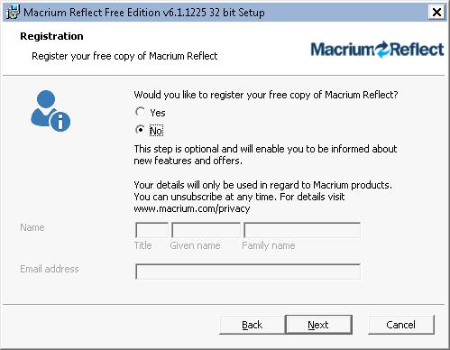 Устанавливаем программу Macrium Reflect Free