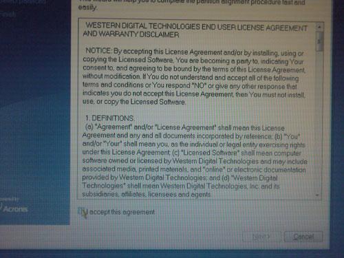 Лицензионное соглашение WD Aling